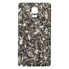 Black And White Leaves Pattern Galaxy Note 4 Back Case by dflcprints