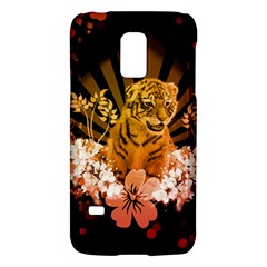 Cute Little Tiger With Flowers Galaxy S5 Mini by FantasyWorld7