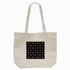 Dark Stylized Floral Pattern Tote Bag (cream) by dflcprints