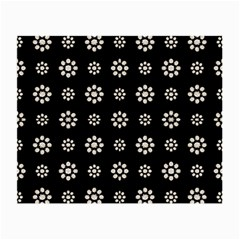 Dark Stylized Floral Pattern Small Glasses Cloth (2 Side) by dflcprints