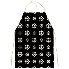 Dark Stylized Floral Pattern Full Print Aprons by dflcprints