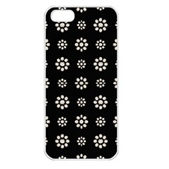 Dark Stylized Floral Pattern Apple Iphone 5 Seamless Case (white)