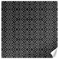 Black And White Tribal Print Canvas 12  X 12   by dflcprints