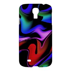 Hot Abstraction With Lines 2 Samsung Galaxy S4 I9500/i9505 Hardshell Case by MoreColorsinLife