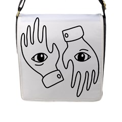 Hands Flap Messenger Bag (l)  by ExtraSpicy