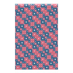 Squares And Circles Motif Geometric Pattern Shower Curtain 48  X 72  (small)  by dflcprints
