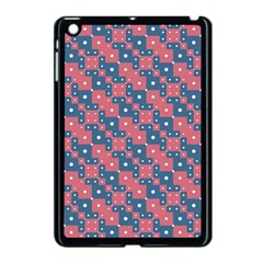 Squares And Circles Motif Geometric Pattern Apple Ipad Mini Case (black)