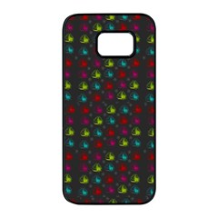 Roses Raining For Love  In Pop Art Samsung Galaxy S7 Edge Black Seamless Case by pepitasart