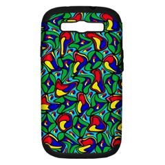 Colorful 4 1 Samsung Galaxy S Iii Hardshell Case (pc+silicone)