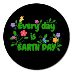 Earth Day Magnet 5  (round) by Valentinaart