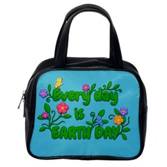 Earth Day Classic Handbags (one Side) by Valentinaart