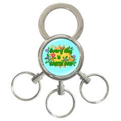 Earth Day 3 Ring Key Chains by Valentinaart