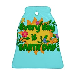 Earth Day Bell Ornament (two Sides) by Valentinaart