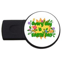 Earth Day Usb Flash Drive Round (2 Gb)