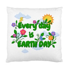 Earth Day Standard Cushion Case (one Side) by Valentinaart