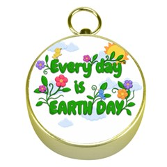 Earth Day Gold Compasses by Valentinaart