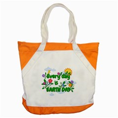 Earth Day Accent Tote Bag by Valentinaart