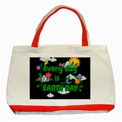 Earth Day Classic Tote Bag (red) by Valentinaart