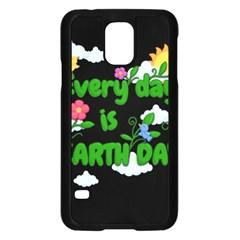 Earth Day Samsung Galaxy S5 Case (black) by Valentinaart