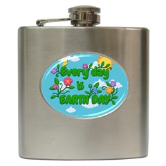 Earth Day Hip Flask (6 Oz) by Valentinaart