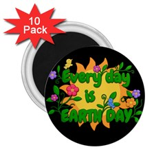 Earth Day 2 25  Magnets (10 Pack)  by Valentinaart