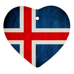 Iceland Flag Heart Ornament (two Sides) by Valentinaart