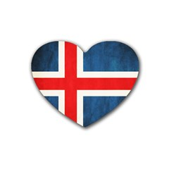 Iceland Flag Heart Coaster (4 Pack)  by Valentinaart
