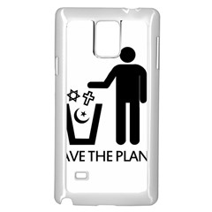 Save The Planet   Religions  Samsung Galaxy Note 4 Case (white) by Valentinaart