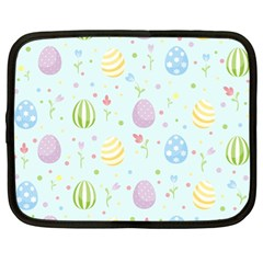 Easter Pattern Netbook Case (large) by Valentinaart