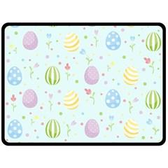 Easter Pattern Fleece Blanket (large)  by Valentinaart