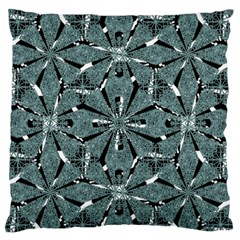 Modern Oriental Ornate Pattern Large Flano Cushion Case (two Sides) by dflcprints
