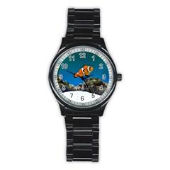 Clownfish 1 Stainless Steel Round Watch by trendistuff