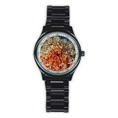 Fire Coral 1 Stainless Steel Round Watch by trendistuff
