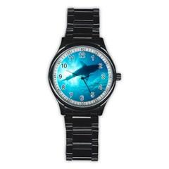 Great White Shark 6 Stainless Steel Round Watch by trendistuff