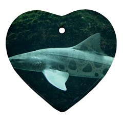 Leopard Shark Heart Ornament (two Sides) by trendistuff