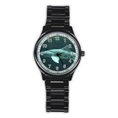 Leopard Shark Stainless Steel Round Watch by trendistuff