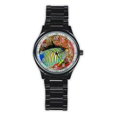 Regal Angelfish Stainless Steel Round Watch by trendistuff