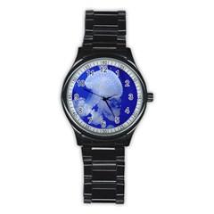 Spotted Jellyfish Stainless Steel Round Watch by trendistuff