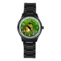 Tiger Barb Stainless Steel Round Watch by trendistuff