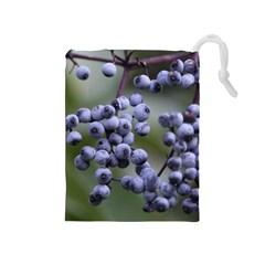 Blueberries 2 Drawstring Pouches (medium)  by trendistuff