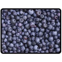 Blueberries 3 Fleece Blanket (large)  by trendistuff