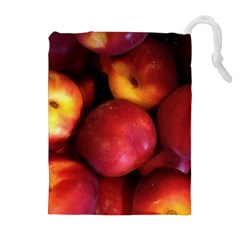Nectarines Drawstring Pouches (extra Large)