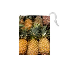 Pineapple 1 Drawstring Pouches (small)  by trendistuff