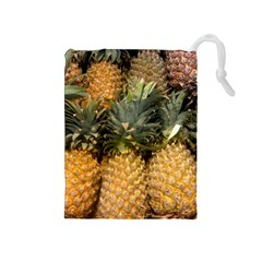 Pineapple 1 Drawstring Pouches (medium)  by trendistuff