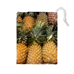 Pineapple 1 Drawstring Pouches (large)  by trendistuff