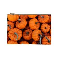 Pumpkins 2 Cosmetic Bag (large)  by trendistuff