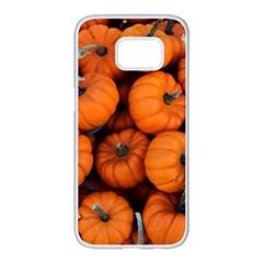 Pumpkins 2 Samsung Galaxy S7 Edge White Seamless Case by trendistuff