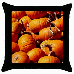 Pumpkins 3 Throw Pillow Case (black) by trendistuff