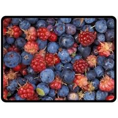 Wild Berries 1 Fleece Blanket (large)  by trendistuff