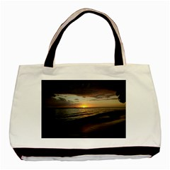 Sunset On Rincon Puerto Rico Basic Tote Bag by sherylchapmanphotography